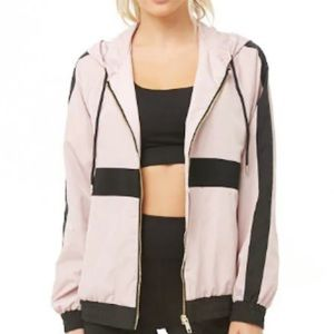 Active color block windbreaker